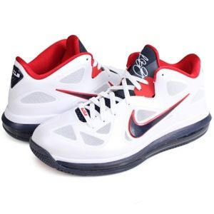 Nike Shoes - Nike Air LeBron 9 Low USA sneakers red white blue